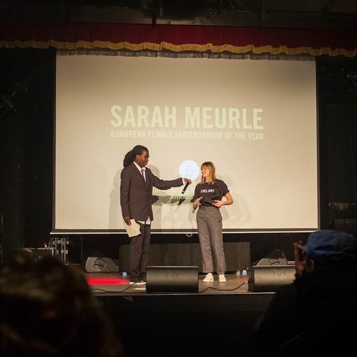 Bright European Skateboard Awards - Sarah Meurle