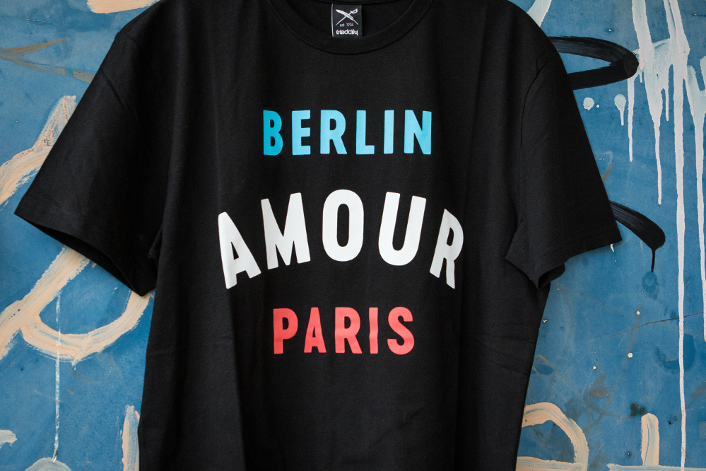 Iriedaily x Radio Skateboards collection | Berlin Amour Paris T-Shirt | Front