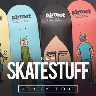 Skateboard Decks, Completes, Trucks and more at the skatedeluxe Skate Shop