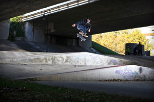 cOLLAPSe Skateboards Matt Debauché Shifty Kickflip