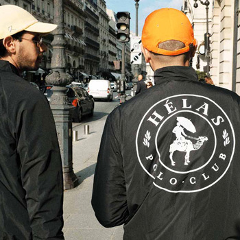 Hélas jacket with Polo Club Backprint
