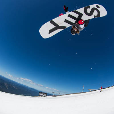 Yes Snowboard Team Austen Sweeting Indy Grab