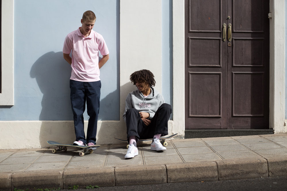 Nike SB Pink Motel collection at the skatedeluxe Skateshop