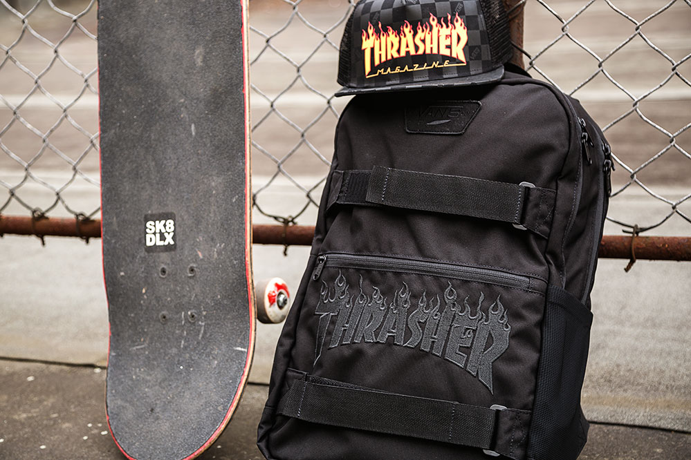 Vans x Thrasher Backpack and Cap